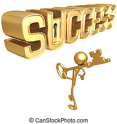 Key To Success - Concept & Presentation Figure 3D