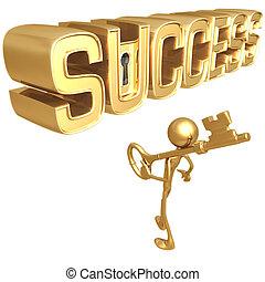 Key To Success - Concept & Presentation Figure 3D
