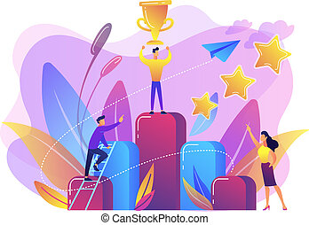 Key to success concept vector illustration.