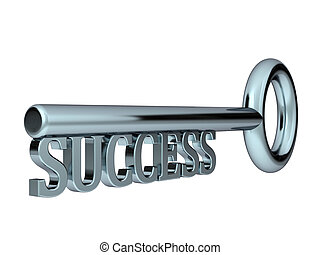 key to success - High resolution 3d render of an Key to...