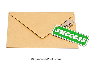 Key to success on brown envelope