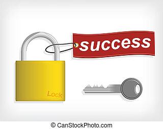 Key to Success. Success concept.