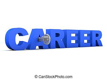key unlocking the word career