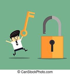 key., uomo affari