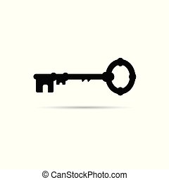 key vector icon in old version