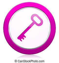 key violet icon secure symbol