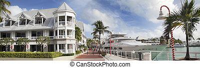 Key West harbor, Florida, USA
