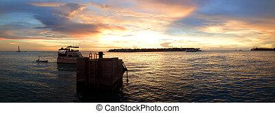 Key West sunset panorama