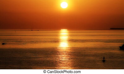 Sunset off the Florida Keys