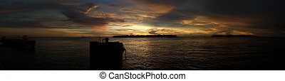 Key West twilight panorama