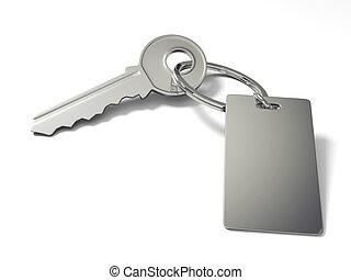 Key with blank key tag