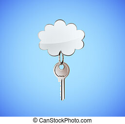 key with cloud