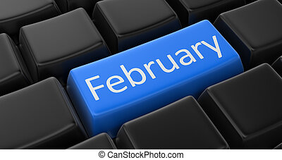 Key with February