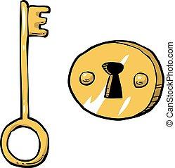 Key with keyhole