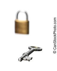 key with lock