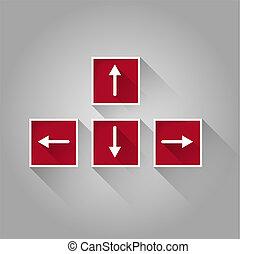 keyboard arrows buttons