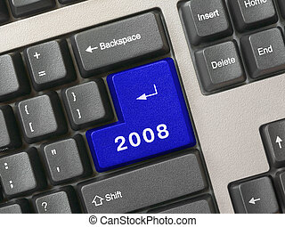Keyboard -  blue key 2008