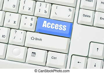 Keyboard blue key Access. business concept