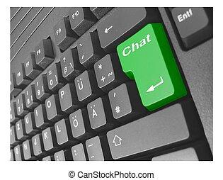 keyboard chat green