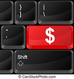 computer button dollar