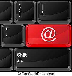 computer button e-mail