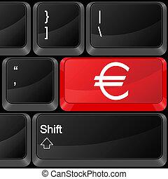 computer button euro