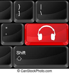 computer button headphone