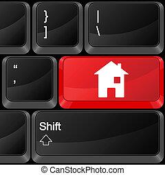 computer button house