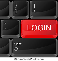 computer button login
