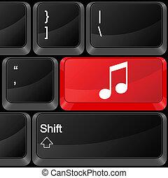 computer button music