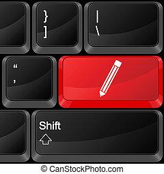 computer button pen