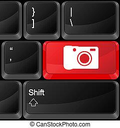 computer button photography
