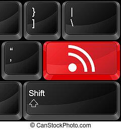 computer button RSS