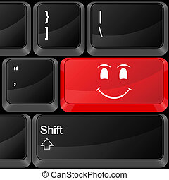 computer button smile face