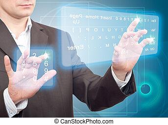 keyboard., deux, virtuel