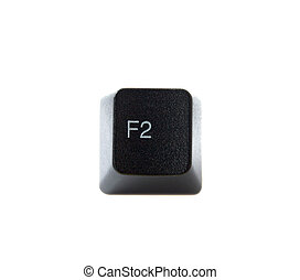 The F2 key from a black computer keyboard