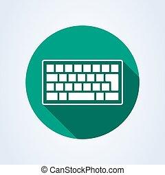 keyboard flat style. Vector illustration icon isolated on white background.