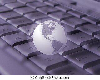 Keyboard & Globe