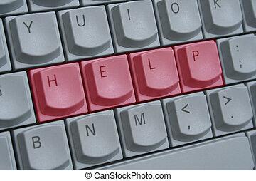 Keyboard Help - The word help spelt out on keyboard