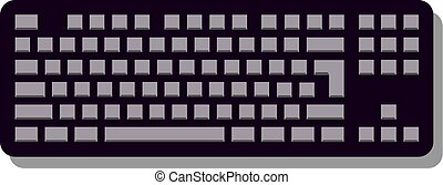 Keyboard Icon in trendy flat style isolated on grey background, for your web site design, app, logo, UI. Vector illustration