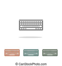 Keyboard icon vector isolated on white background for your web and mobile app design, Keyboard logo concept