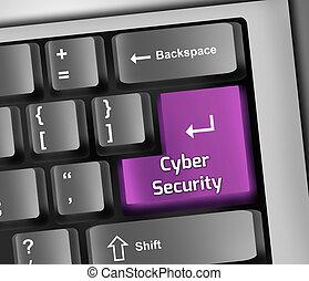 Keyboard Illustration Cyber Security - Keyboard Illustration...