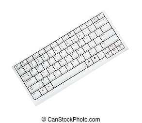Keyboard isolated on white