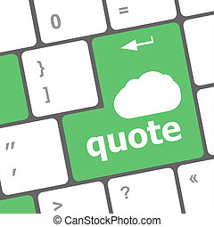 keyboard key for quote - business concept