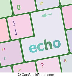 keyboard key with echo button vector illustration