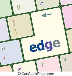 keyboard key with edge button vector illustration