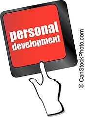 Keyboard key with enter button personal development vector
