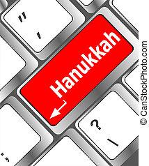 keyboard key with Hanukkah word on it