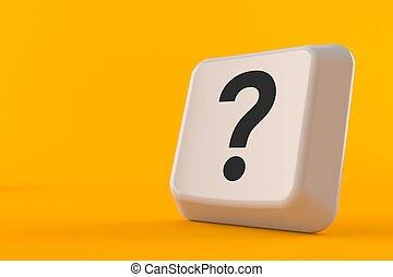 Keyboard key with question mark
