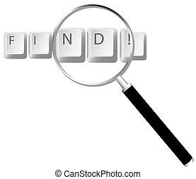 Keyboard Keys Magnified - storage, store, data, information...